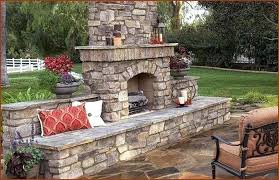 outside stone fireplace outdoor pictures surround kits