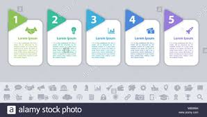 Business Infographic Design Template With 5 Steps Or Options