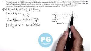 Average Light Intensity 5 Physics Wave Optics Fringe Intensity In Ydse Pattern By Ashish Arora Ga