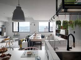 Hanging Herb Garden Kitchen Kitchen Gray Wooden Floor Scandinavian Style Apartment With