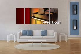 living room canvas art living room art  piece canvas wall art music multi panel canvas piano