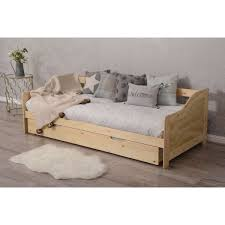 wooden 3ft single daybed with trundle 2