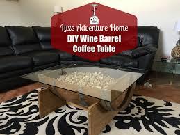 diy wine barrel coffee table luxe