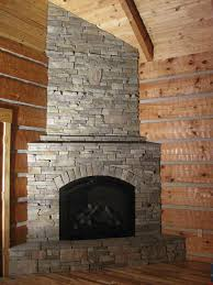 furniture design enchanting corner stone fireplace with rustic corner stone fireplace
