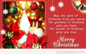 merry christmas quote card for friends
