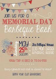 Barbeque Invitation Memorial Day Bbq Invitation Summer Barbeque Invitation Printable