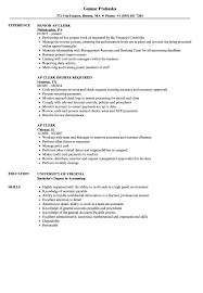 Accounts Payable Clerk Resume Examples AP Clerk Resume Samples Velvet Jobs 24