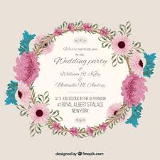 Invitation Free Download Unique Wedding Invitation With Floral Frame Vector Free Download
