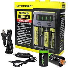 NITECORE i4 Intellicharge universal smart battery Charger For Li-ion / IMR Ni-MH/ Ni-Cd 26650 22650 18650 18490 18350 17670 17500 17335 16340 RCR123 14500 The 4 Best Battery Chargers \u2013 Reviews 2019