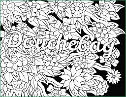 Adult Swear Word Coloring Pages Great New Douchebag Swear Word