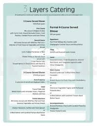 Free Catering Menu Templates For Microsoft Word Catering Menu Template