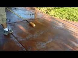 sealer or paint off a concrete patio