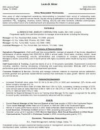 Retail Store Manager Resume Objective Summary Of Qualifications
