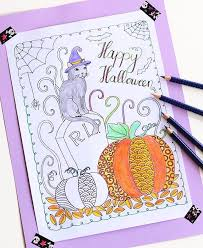 Small Picture 30 Halloween Coloring Page Printables to Keep Kids and Adults