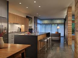 Concrete Flooring Kitchen Modern Kitchen With Kitchen Island By Mohler Ghillino Architects