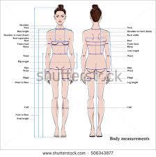 Female Silhouette For Measurements