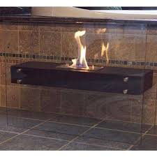 freestanding decorative bio ethanol fireplace in matte black