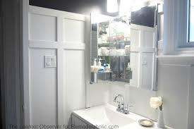 built in bathroom medicine cabinets. The Learner Observer For Remodelaholic.com - Built-in Medicine Cabinet Built In Bathroom Cabinets