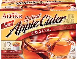 alpine ed apple cider instant drink mix 12 k cups