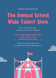 Talent Show Flyer Design Pastel Circus Tent Talent Show Flyer Templates By Canva