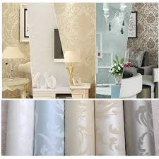 whole non woven european glossy stylish blue beige white modern damask wallpaper living room modern luxury wall paper for bedroom photography desktop
