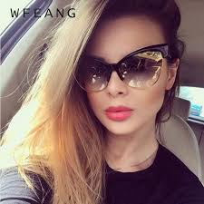 <b>WFEANG</b> Fashion Brand Designer Cat Eye <b>Sunglasses Women</b> ...