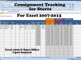 Tracking Sales In Excel Inventory And Sales Consignment Tracking For Stores Track Consignments Excel Template
