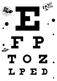 Dot Eye Chart Handheld Snellen Printable Online Charts Collection