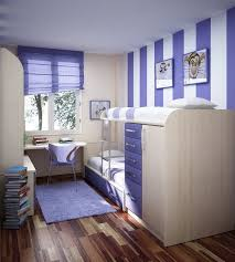 cool teenage narrow bedroom in purple scheme arrange cool