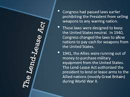 Image result for The Lend-Lease Act was a crucial element to Allied victory in World War II.