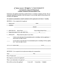 do csu need letter recommendation fillable online csu recommendation form letter chicago state