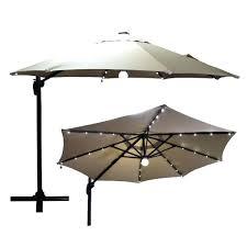 solar powered patio umbrella bit premium beach outdoor garden beige 9 with usb ports