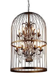 graceful bird cage chandelier metal birdcage