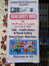 School Safety Rules Chart Udupi Road Safety Week Organised At Milagres English