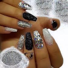2pcs 1 Sada Glitter Powder Elegantní Luxusní Glitter Sparkle