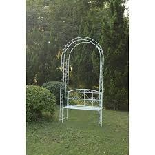 country cream garden arch bench