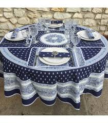 coatted cotton round tablecloth