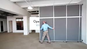 Sliding Wall Dividers Versare Operable Wall Sliding Room Divider Youtube