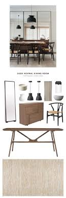 an amazing sleek neutral midcentury modern dining room designed by a