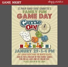 Game Night Invitation Template Game Night Poster Fun Dice Template Church School Community Movie