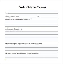 Behavior Contract Template Luxury Behavior Contract Template Best Sample Excellent