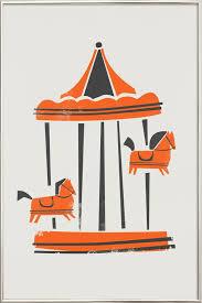 carousel poster in aluminium frame