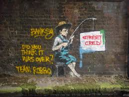 2 Regent's Canal, London (Street Cred - Did You Think it was over) | Banksy,  Banksy art, Graffiti artwork