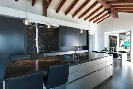 black kitchen cabinets with white marble countertops. Black Marble Countertops Kitchen Long Cabinets With White . U