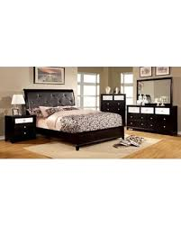 black modern platform bed. Black Modern Platform Bed Padded Leatherette HB Solid Wood Queen Size  Dresser Mirror Nightstand 4pc Black Modern Platform Bed