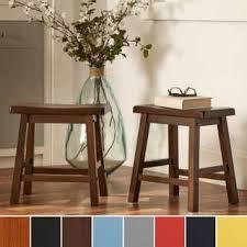 short wooden stool.  Short Salvador Saddle Back 18inch Backless Stool Set Of 2 By INSPIRE Q Intended Short Wooden D