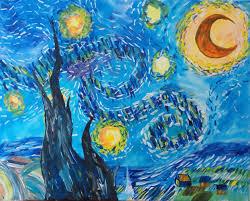 van gogh s a starry night lake tahoe paint sip studio