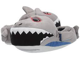Stride Rite Caleb Lighted Cool Shark (Toddler/Little Kid) (Grey) Boy's Shoes | Slippers.com - Shop Comfy