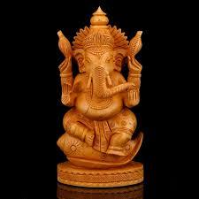 handmade wooden ganesha ganpati sculpture 7