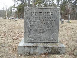Priscilla Dundas Wright Mason (1844-1925) - Find A Grave Memorial